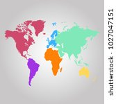 world map. europe asia america... | Shutterstock .eps vector #1027047151