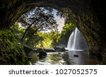 cave in heo suwat waterfall in... | Shutterstock . vector #1027052575