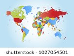 color world map vector | Shutterstock .eps vector #1027054501