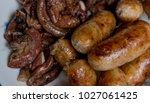 thai  sausage sausage grilled...   Shutterstock . vector #1027061425
