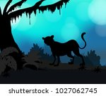 silhouette background with... | Shutterstock .eps vector #1027062745