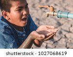 children are glad to have water ... | Shutterstock . vector #1027068619