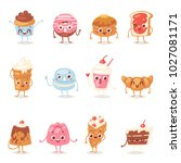 cartoon cake character vector... | Shutterstock .eps vector #1027081171