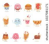 cartoon cake character vector... | Shutterstock .eps vector #1027081171