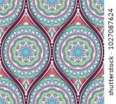 seamless pattern with ethnic...   Shutterstock . vector #1027087624