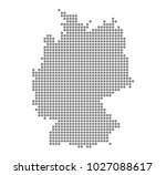 pixel map of germany. vector... | Shutterstock .eps vector #1027088617