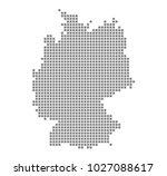 pixel map of germany. vector... | Shutterstock .eps vector #1027088617