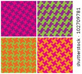 Colorful Houndstooth Patterns ...