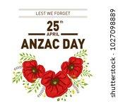 vector stock of anzac day | Shutterstock .eps vector #1027098889