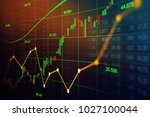 stock market or forex trading... | Shutterstock . vector #1027100044