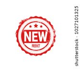 new product stamp red ink badge ... | Shutterstock .eps vector #1027101325