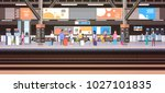 train station with people... | Shutterstock .eps vector #1027101835