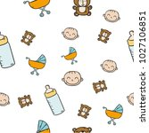 baby elements collection in...   Shutterstock .eps vector #1027106851