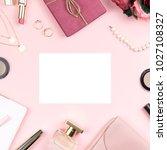 woman fashion accessories ... | Shutterstock . vector #1027108327