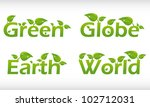 set of vector words with leafs  ... | Shutterstock .eps vector #102712031