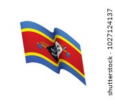 swaziland flag  vector...   Shutterstock .eps vector #1027124137