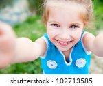 Cute Little Girl  On The Meado...