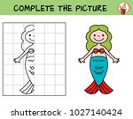 cute little mermaid. copy the... | Shutterstock .eps vector #1027140424