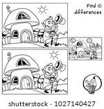 funny leprechaun goes for a... | Shutterstock .eps vector #1027140427