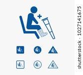 priority seat icon illustration ... | Shutterstock .eps vector #1027141675