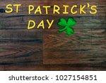 saint patrick's day. gold... | Shutterstock . vector #1027154851