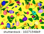 happy easter day   spring is... | Shutterstock . vector #1027154869