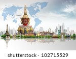 thailand bangkok travel concept | Shutterstock . vector #102715529
