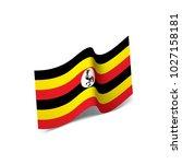 uganda flag  vector... | Shutterstock .eps vector #1027158181