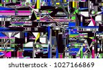 glitch background. computer... | Shutterstock . vector #1027166869