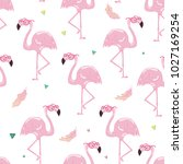 seamless tropical trendy... | Shutterstock .eps vector #1027169254