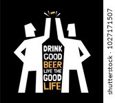 beer poster. friends beer... | Shutterstock .eps vector #1027171507