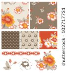 pretty floral vector seamless... | Shutterstock .eps vector #102717731
