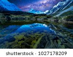 lake with milkyway background | Shutterstock . vector #1027178209