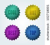 set of 4 quality vector labels. ...   Shutterstock .eps vector #102718001