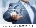 webinar e learning training... | Shutterstock . vector #1027181614
