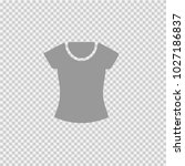 woman shirt vector icon eps 10. ... | Shutterstock .eps vector #1027186837