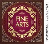 golden ornate art deco vintage...   Shutterstock .eps vector #1027187425