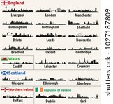 vector city skylines of british ... | Shutterstock .eps vector #1027187809