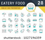 set of vector line icons  sign... | Shutterstock .eps vector #1027196359