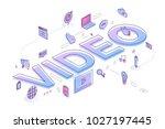 "flat design typography concept ""... | Shutterstock .eps vector #1027197445"