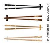 chopsticks. traditional wodden... | Shutterstock .eps vector #1027200934
