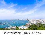 pattaya cityscape is city is... | Shutterstock . vector #1027201969