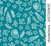 vector seamless underwater sea... | Shutterstock .eps vector #1027203655