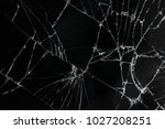 top view cracked broken mobile... | Shutterstock . vector #1027208251