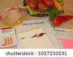concept of diet. low calorie... | Shutterstock . vector #1027210231