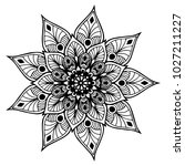 mandalas for coloring book.... | Shutterstock .eps vector #1027211227