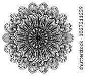 mandalas for coloring book.... | Shutterstock .eps vector #1027211239