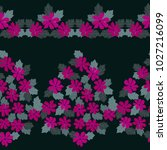 seamless gorgeous border in... | Shutterstock .eps vector #1027216099