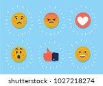 vector cartoon illustration of... | Shutterstock .eps vector #1027218274