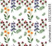 watercolor multicolored... | Shutterstock . vector #1027222855